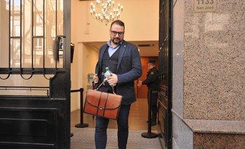 El abogado Martín Frustaci, a la salida de una audiencia de Operación Océano