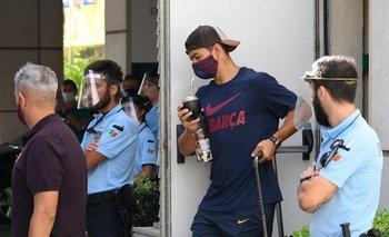 Suárez antes de dejar Barcelona