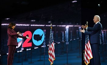 La candidata a la vicepresidenta de Estados Unidos, Kamala Harris, y el candidato a presidente Joe Biden