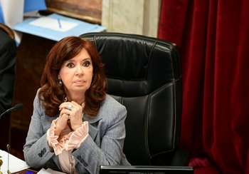 Cristina Fernández durante una sesión en el Senado