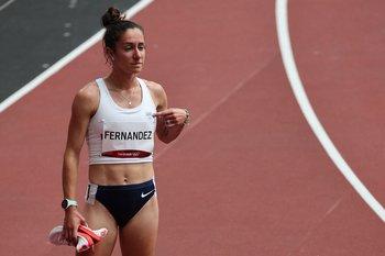 Pia Fernández corrió lesionada