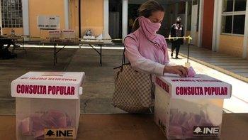 a baja participación ha marcado la consulta ciudadana de este domingo en México