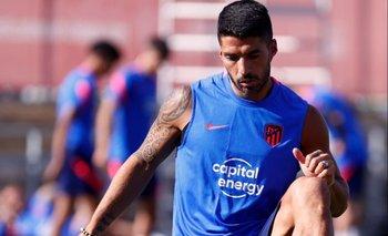 Luis Suárez volvió a entrenar este lunes en Atlético de Madrid