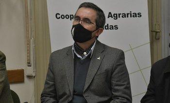 Pablo Perdomo, presidente de Cooperativas Agrarias Federadas en la Asamblea General Anual.