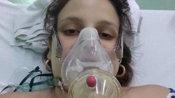 Lydda María Rivero, de 28 años, a punto da dar a luz a su segundo bebé.