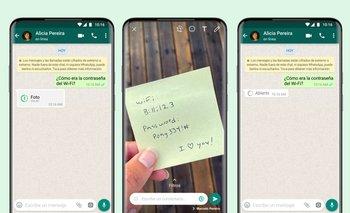 Visualización única en WhatsApp