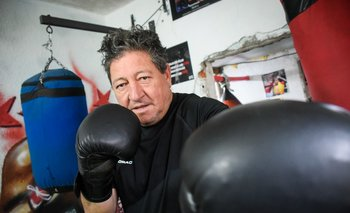 El Chueco Perdomo se ejercita todos los días con gimnasia de boxeo