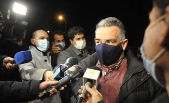 Carmelo Vidalín previo a la entrada a la reunión con el presidente