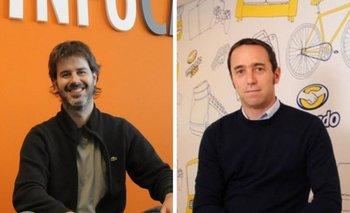 Ricardo Frechou, CEO de InfoCasas y Marco Galperin, fundador y CEO de Mercado Libre