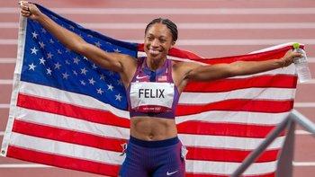 Felix es la mujer que más medallas ha ganado sobre la pista en la historia olímpica