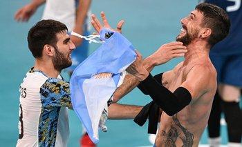 Ezequiel Palacios y Facundo Conte festejan el bronce; Conte ganó la medalla que había ganado su padre Hugo