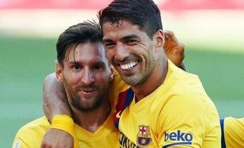 Luis Suárez y Lionel Messi en Barcelona