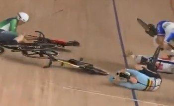 La caída aparatosa de seis ciclistas en el final de los Juegos Olímpicos de Tokyo 2020