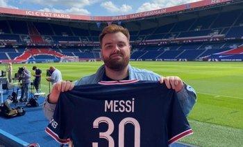 Ibai Llanos con la 30 de Messi