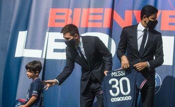 Messi durante la presentación
