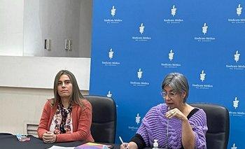 Zaida Arteta y Verónica Pérez, presidenta y vicepresidenta del Sindicato Médico del Uruguay