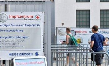 El engaño sucedió en un centro de vacunación como este de la ciudad de Dresde.