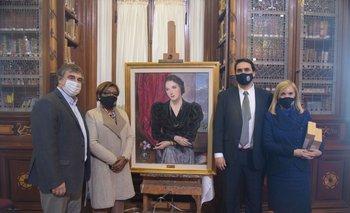 Homenaje a Juana de Ibarbourou en conmemoración del 92º aniversario de la declaración de la poetisa como