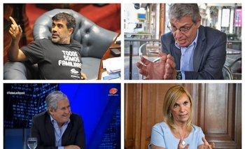 Oscar Andrade, Washington Abdala, Conrado Hughes y Beatriz Argimón, cuatro cruces de la política y la televisión