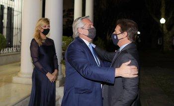 Fernández recibió a Lacalle tras el encuentro que mantuvieron en Colonia en noviembre en Anchorena