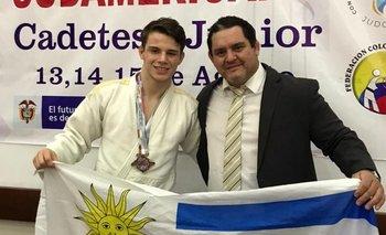Gorriz y su entrenador Javier Terra
