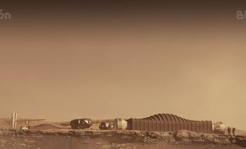 Render del Mars Dune Alpha ubicado en Marte