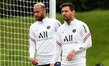 Neymar y Messi, PSG al ataque