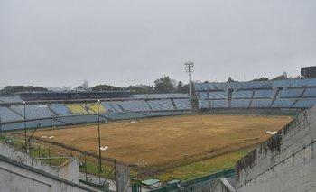 Así lucía el Estadio Centenario este viernes, a tres meses de la primera final de las copas de Conmebol