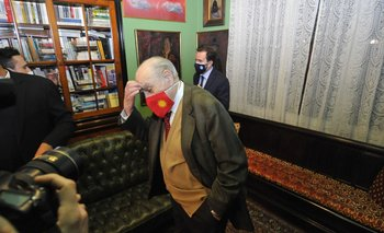Julio María Sanguinetti acompañó este viernes a Cardoso en una conferencia de prensa