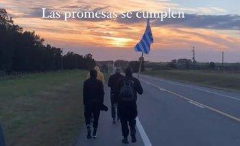 Los jugadores de Plaza Colonia en su promesa tras salir campeones del Apertura