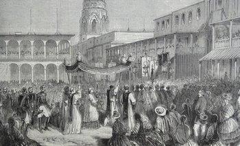 Lima temía perder importancia en la vida del país (grabado de la ciudad a fines de 1839).
