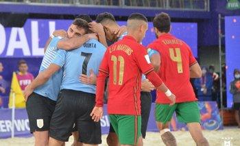 Uruguay venció a Portugal y se despachó con 7 goles