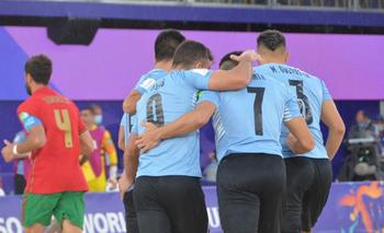 Uruguay a cuartos de final del mundial de fútbol playa