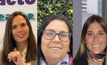 Analía Migues, Sara Goldberg y Martina Burghi