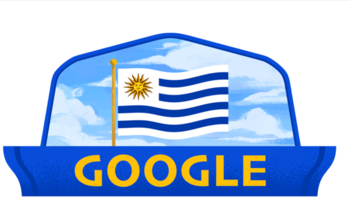 Google hizo un doodle para celebrar el día de la Independencia de Uruguay