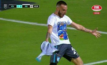 Renzo Tesuri, excompañero del Morro García, festejó su primer gol para Atlético Tucumán, recordando al uruguayo