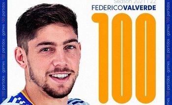 LaLiga saludó a Federico Valverde por sus 100 partidos