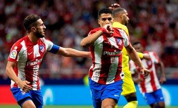 Suárez festeja su gol: gran definición