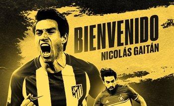 Nicolás Gaitán fue anunciado como nuevo jugador de Peñarol