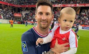 La foto de Messi con el hijo del arquero de Reims