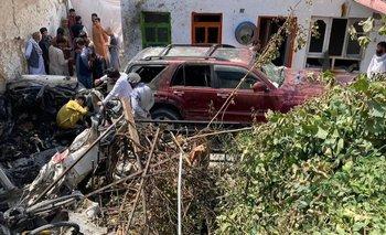 Las secuelas del ataque con drones en la capital afgana, Kabul