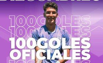 Diego Abreu llegó a 100 goles