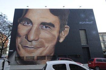 El mural de Antonio Grompone, en el muro del IPA