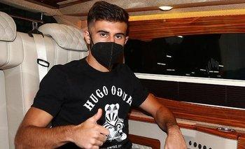 Diego Rossi llegó a Estambul
