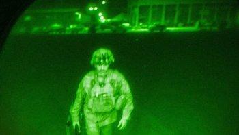 Un mayor general fue el último soldado de EEUU en salir de Afganistán