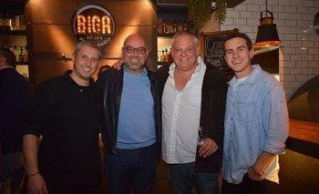 Carlos Giordano, Fernándo Llorach, Jorge Oyenard y Sebastian Minteguiaga