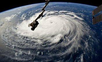El huracán Florence visto desde la Estación Espacial Internacional.