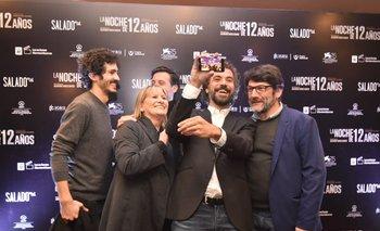 El director con sus actores