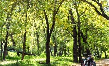 Parque a orillas del río Santa Lucía