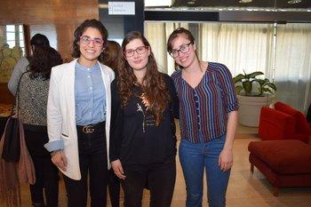 Serena Hornos, Estefania Ojeda y Victoria Guerrero